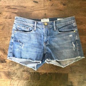 FRAME Le Cutoff Jean Shorts Distressed 25
